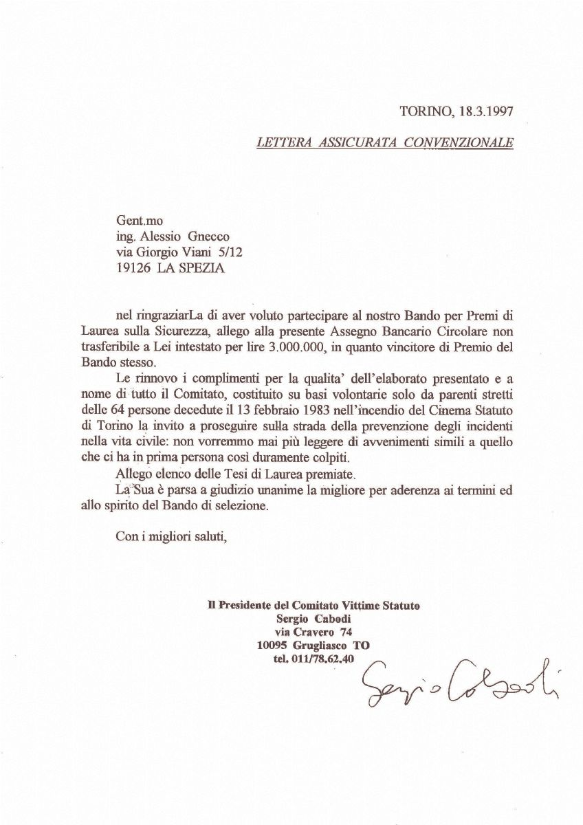 Premio Tesi di Laurea